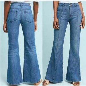 Anthro Pilcro and Letterpress High Rise Wide Jeans